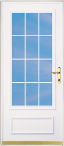 Chamberdoor Oaklawn 36 X 80 Brass Hardware Woodcore Storm Screen Door Reversible Swing At Menards Screen Door Weatherstripping Natural Ventilation