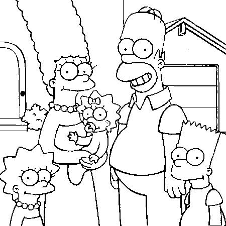 Dessin Les Simpsons A Colorier Coloriage A Imprimer Gratuit