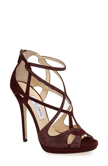 1d794001e3e28a Jimmy Choo  Vermeil  Crystal Trim Strappy Sandal (Women) available at   Nordstrom