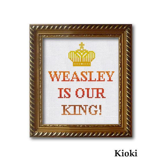 Cross Stitch Pattern Weasley is Our King Instant by TinyNeedle ...