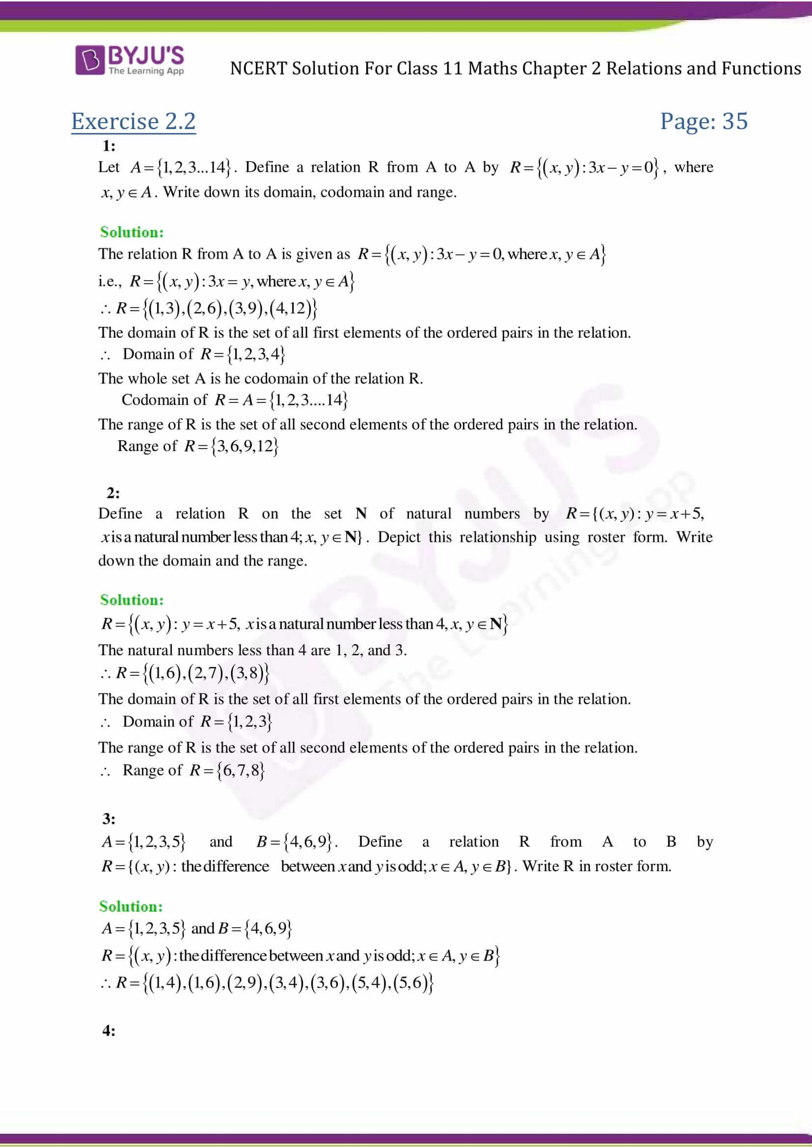 5 Sample Grade 5 Algebra Ncert Solution For Class 11 Maths