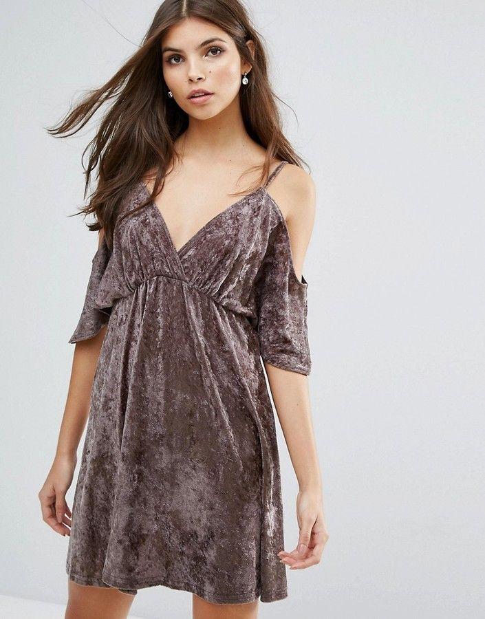 16d24295a102 Love Velvet Cold Shoulder Dress   Products   Dresses, Velvet skater ...