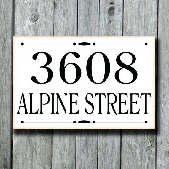 Address Plaque,Custom House Number Sign,Outdoor Street Porch Drive ...