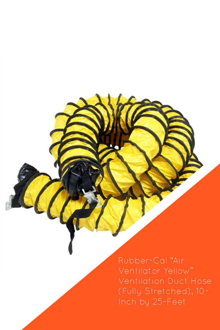 """RubberCal """"Air Ventilator Yellow"""" Ventilation Duct Hose"""