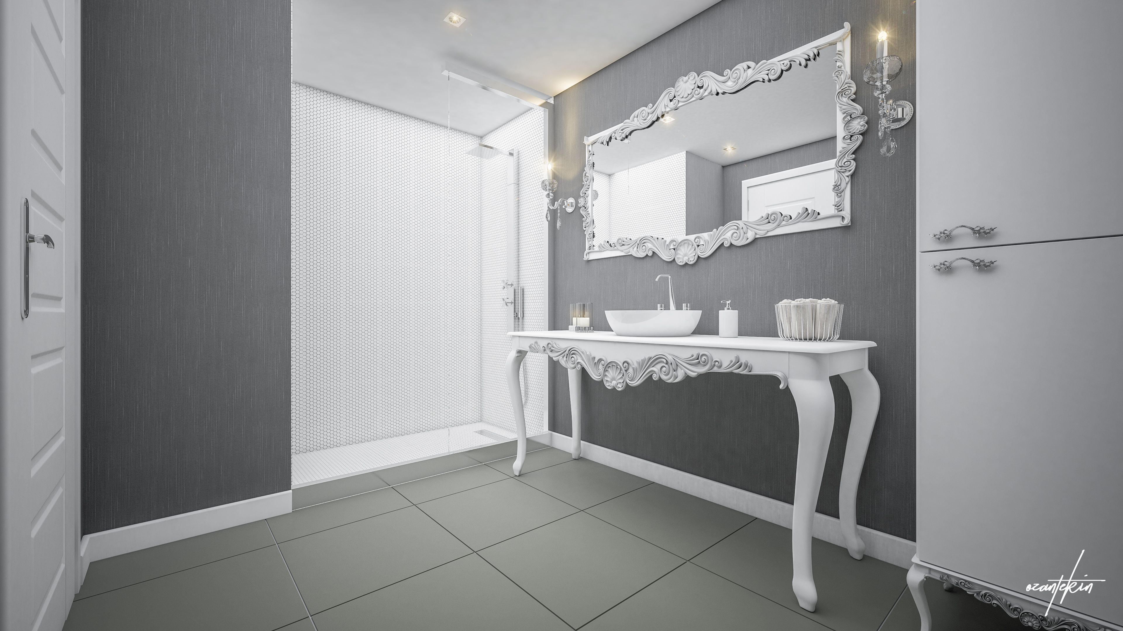 White Bathroom | .My 3D Architectural Visualiton. | Pinterest | 3d