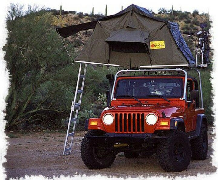 Jeep With Rooftop Tent Awesome Jeep Tent Jeep Tj Jeep Camping