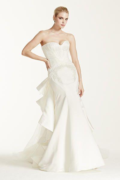 Truly Zac Posen Strapless Satin Wedding Dress ZP345004 | Truly Zac ...