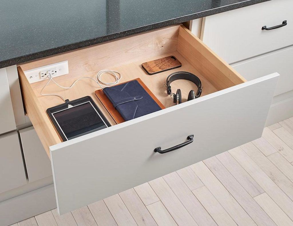 Docking Drawer In Drawer Electrical Outlets Electrical Outlets Home Remodeling Trendy Home