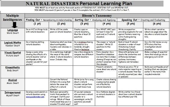 Natural Disasters Personal Learning Plan A Gardneru0027s Multiple - disaster recovery plan template