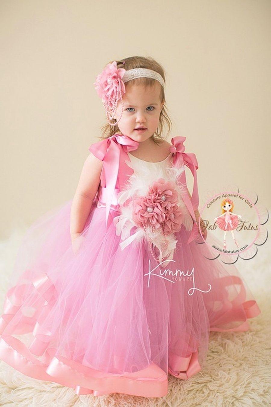 "FabTutus | Products | Flower Girl Dress | ""Amara"" Dress"
