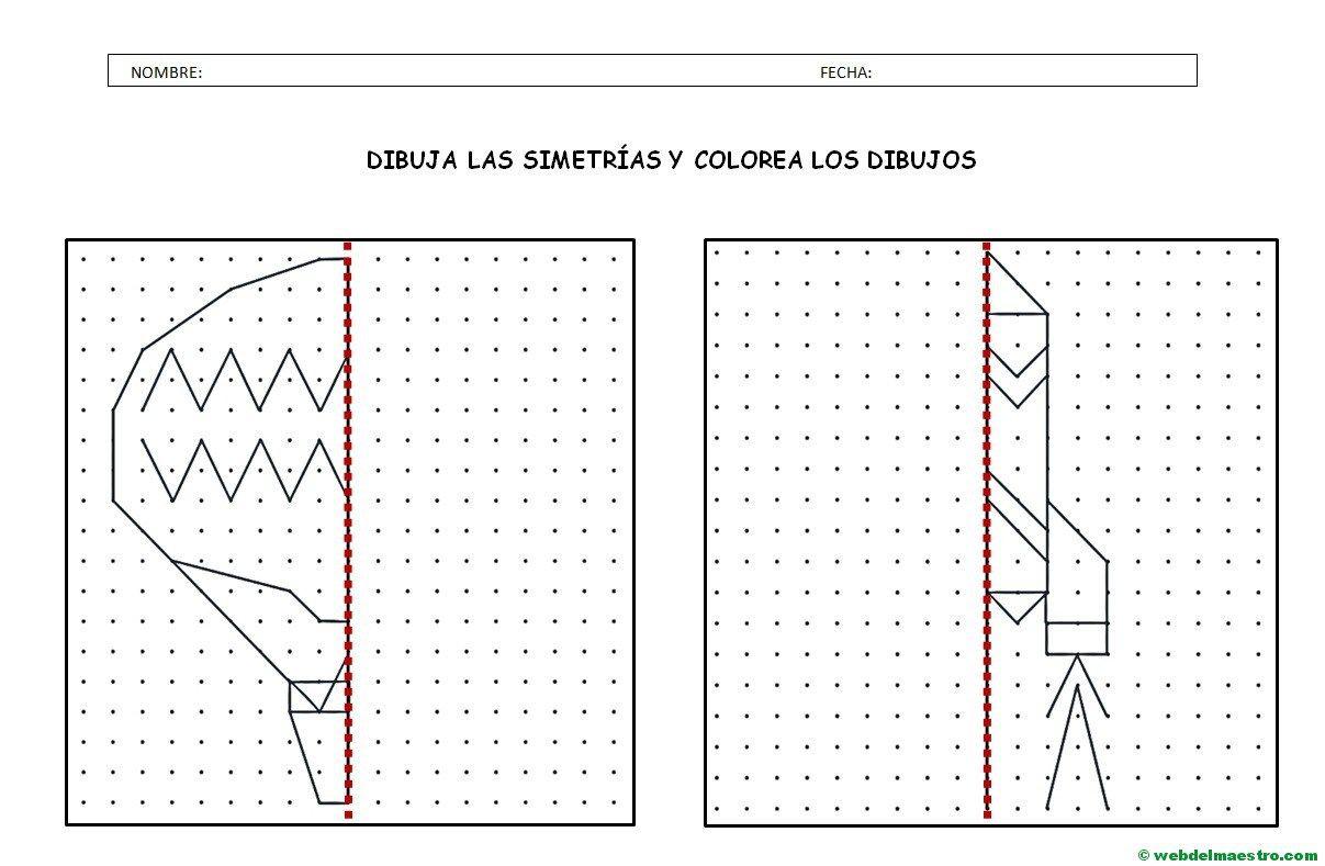 Simetria Para Ninos De Primaria Web Del Maestro Ejercicios De Simetria Clases De Dibujo Para Ninos Actividades De Simetria