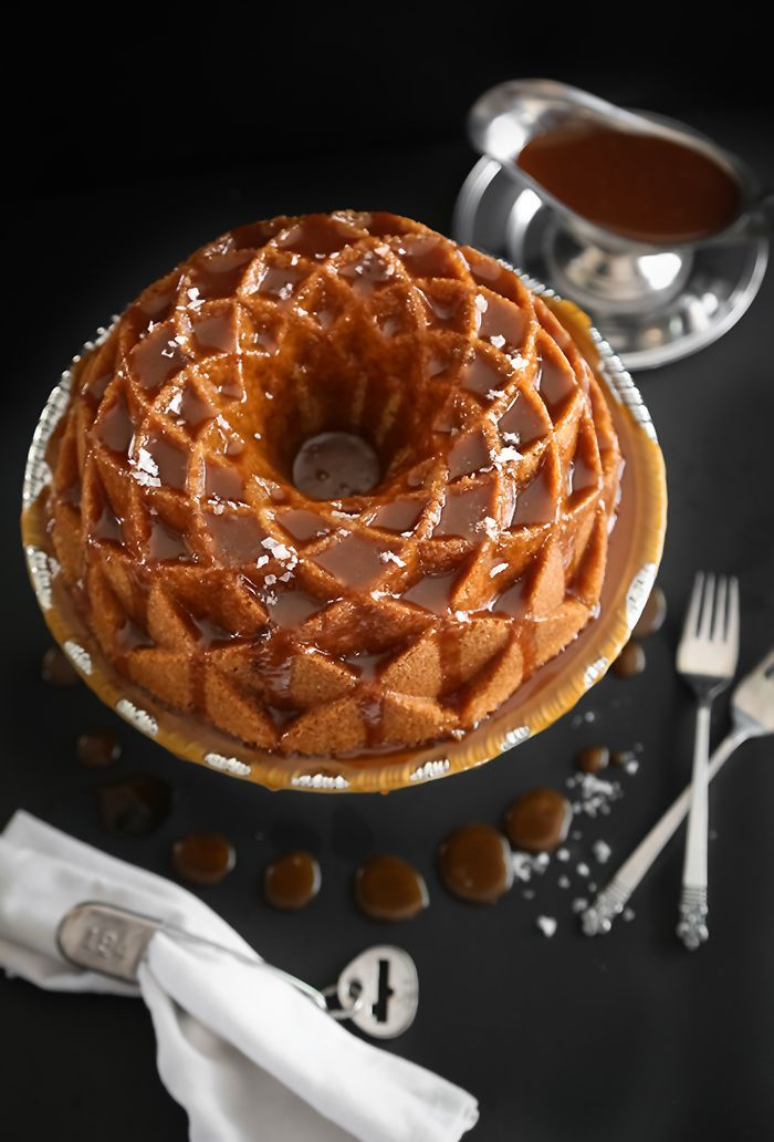Salted Caramel Snickerdoodle Bundt Cake   Sprinkle Bakes