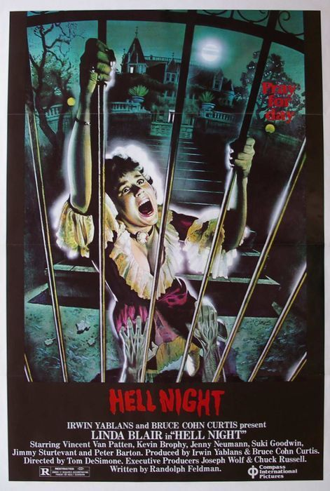 Hell Night | I love the 80's in 2019 | Horror movie posters
