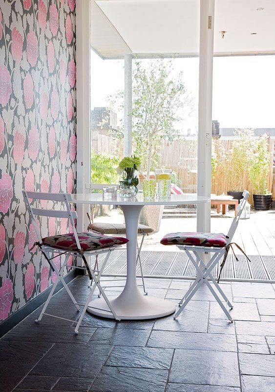 Designed By Chelsea Mclaine Interior Design Floral Wallpaper And