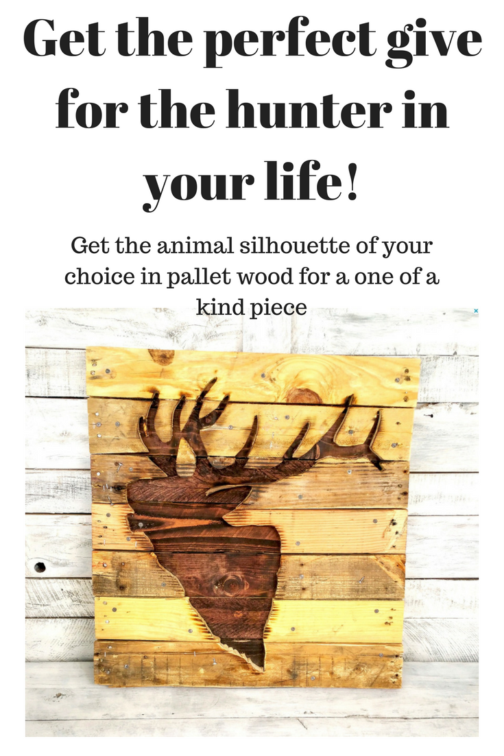 Silhouette Wall Art - Animal Silhouette - Wood Silhouette - Pallet ...