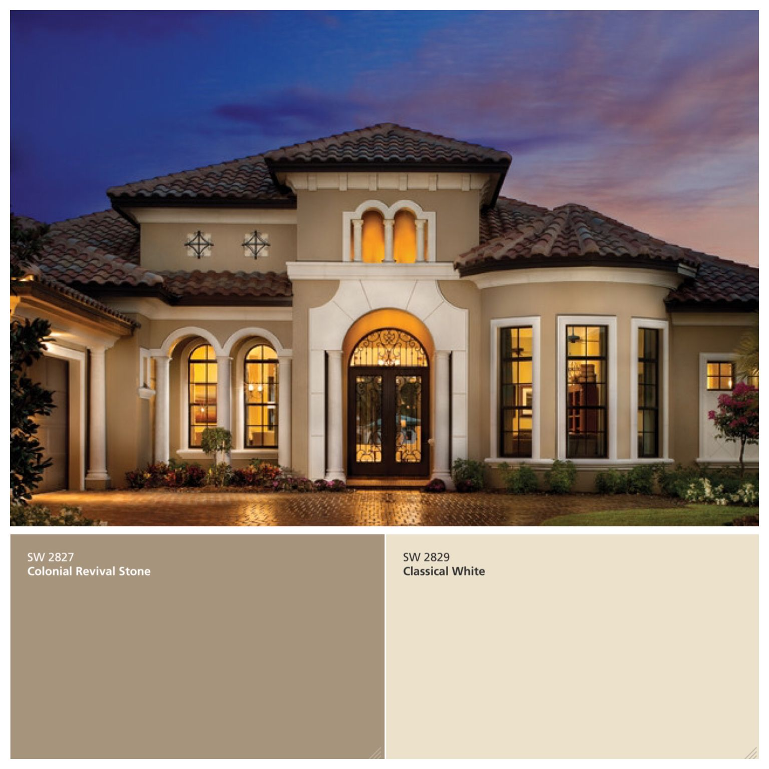 Exterior Paint Colors For Mediterranean Homes: Pin By Dominga Dominguez On Paint Colors Combination