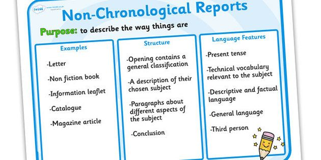 Features of non chronological reports poster non chronological language spiritdancerdesigns Choice Image