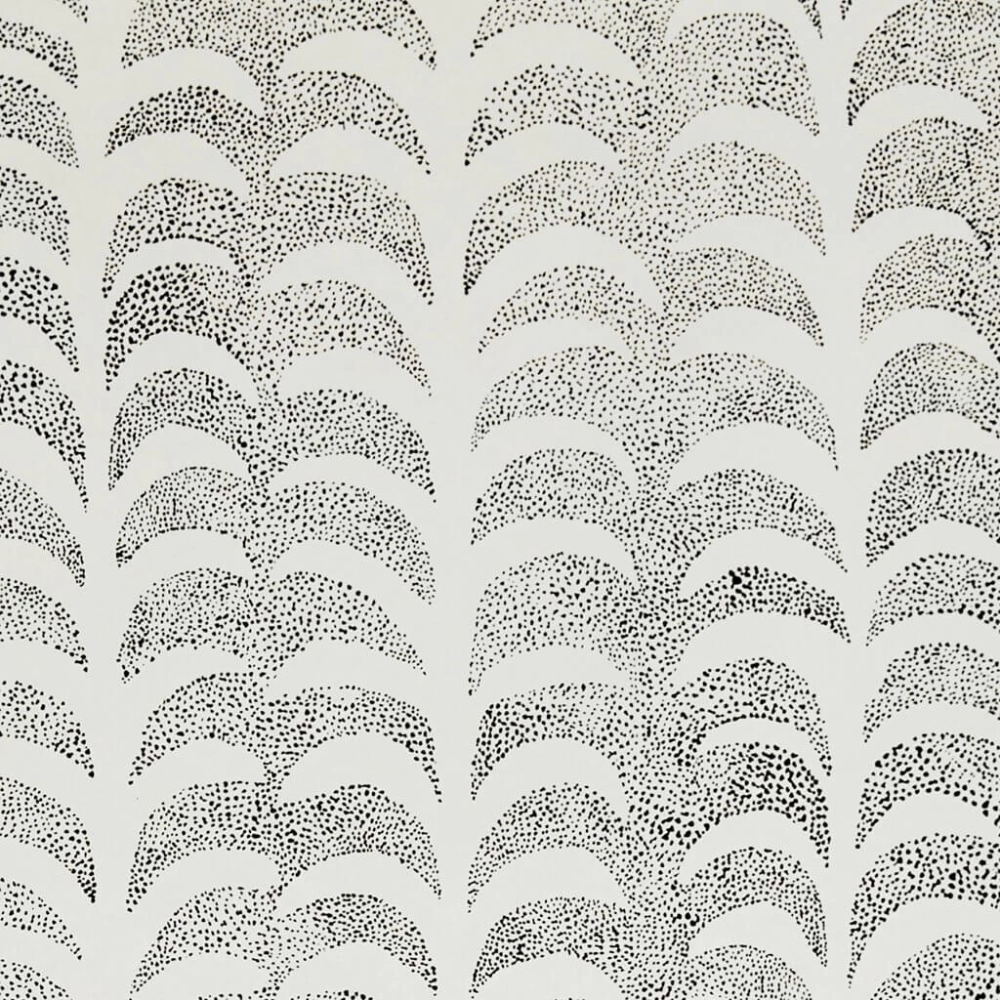 Dotted Palm Wallpaper in Ivory/Black Rebecca Atwood