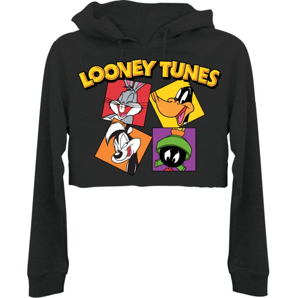 Looney Tunes Womens Color Block Crop Hoodie T Shirt Mall 12