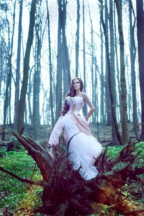 Editorial trash the dress photo shoot woods in 2020