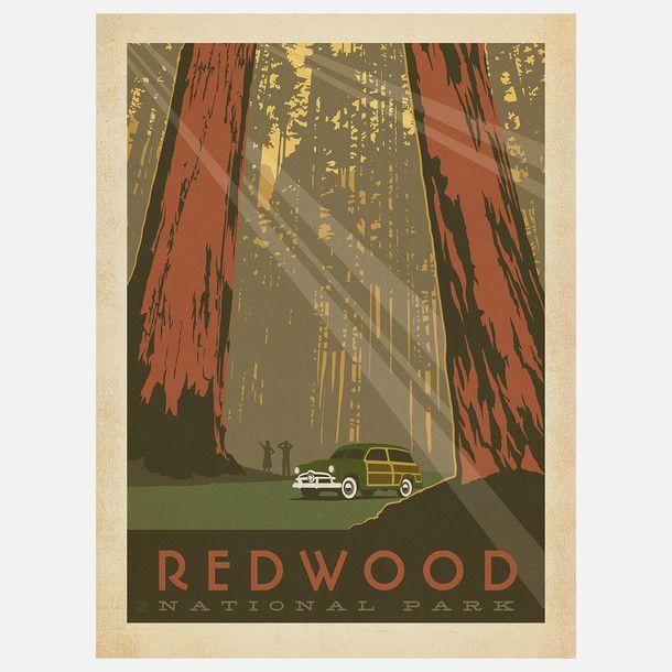 (36) eu.Fab.com | Redwood National Park Print