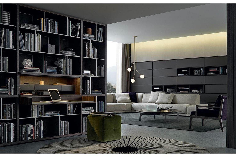Wall System Bookcase by CR&S Poliform for Poliform | Boekenkast ...