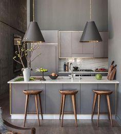 Cozinha americana neutra e sofisticada! #designdeinteriores #decor #cozinha #inspiração