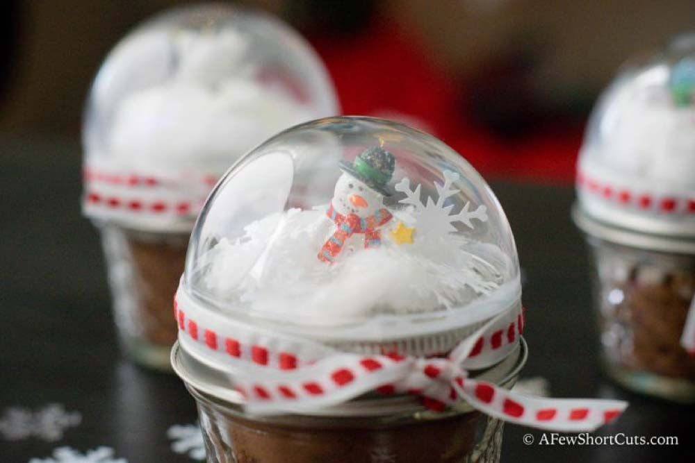 Snow Globe Mason Jar Toppers Christmas Pinterest Christmas
