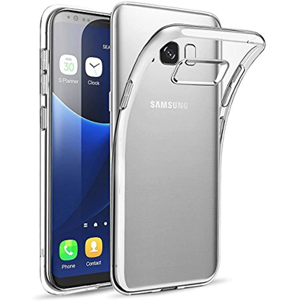 Wsiiroon Hulle Kompatibel Mit Samsung Galaxy S8 Handyhulle Kompatibel Mit Galaxy S8 Crystal Clear Soft Flex Silikontransparent Dur Samsung Handy Elektroniken