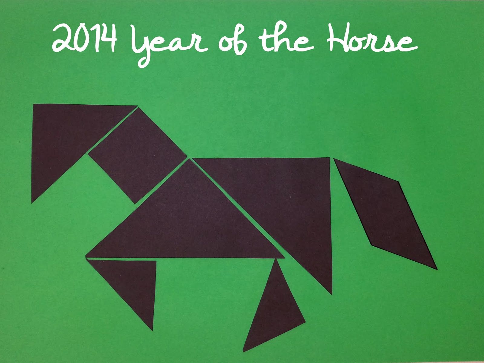 Chinese New Year Tangrams. Year of the Horse. Tangrams for