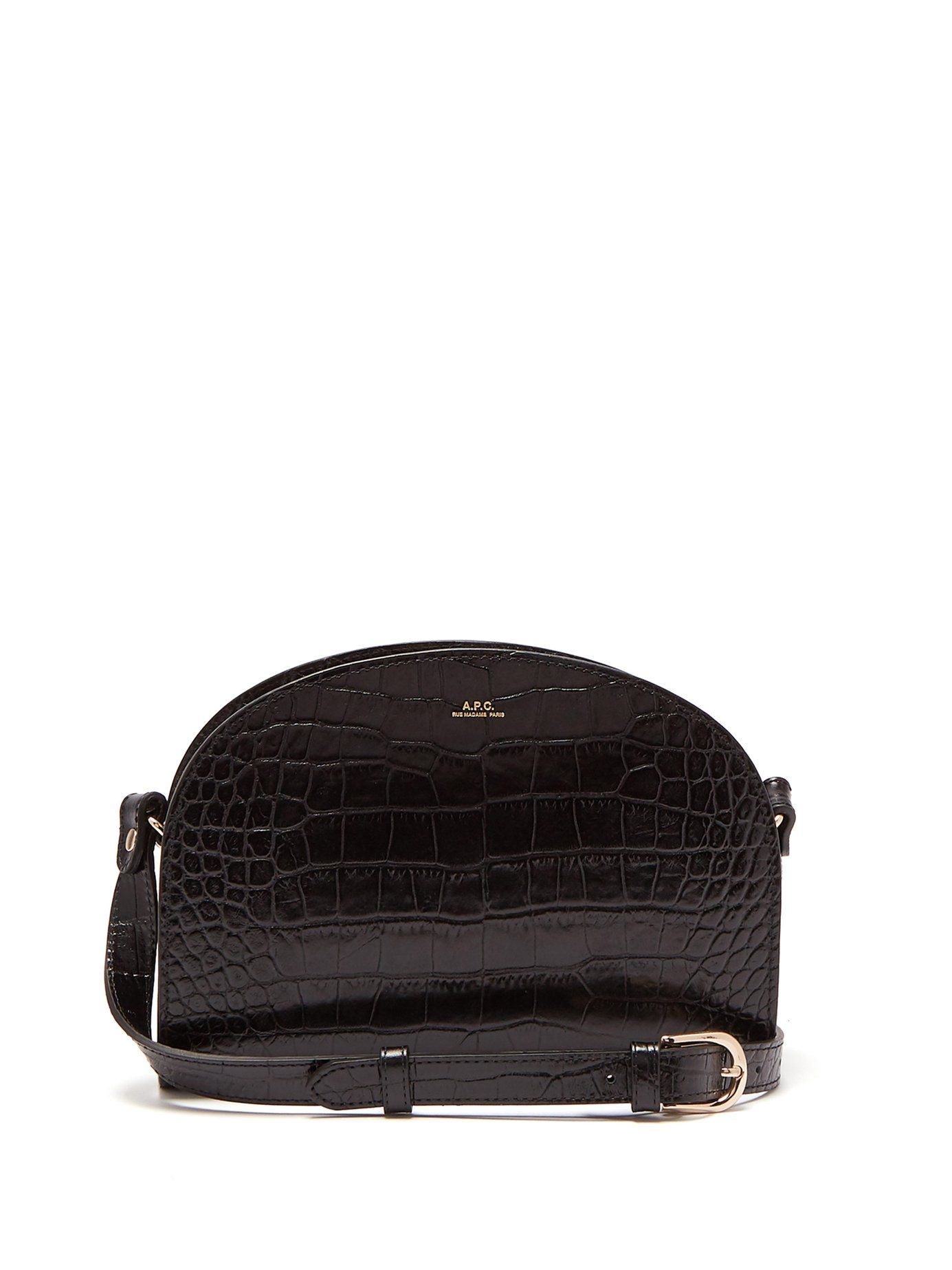 00ebc33a6845 Half-moon crocodile-effect leather cross-body bag | A.P.C. |  MATCHESFASHION.COM UK