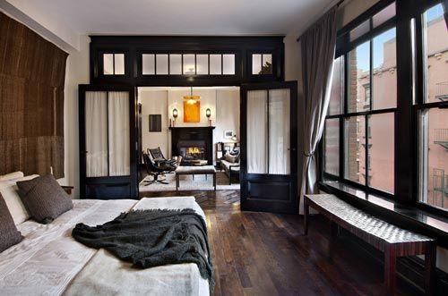Luxe slaapkamer van 1-kamer appartement New York | Interieur ...