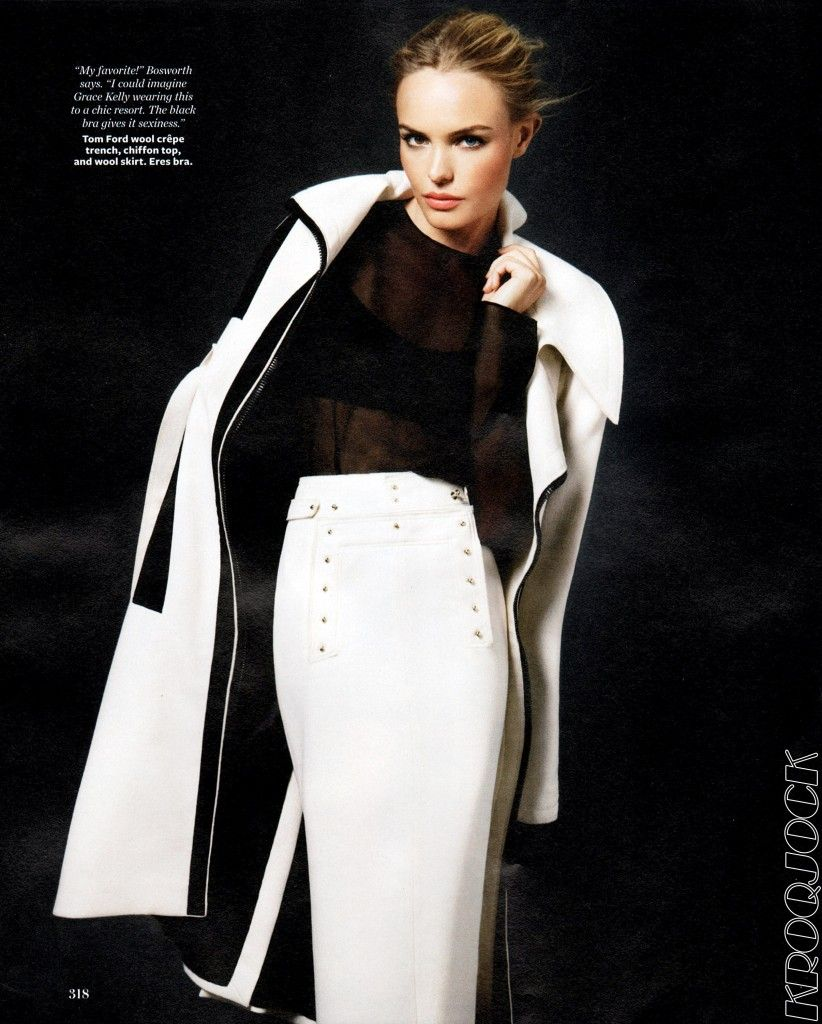Kate Bosworth wears TOM FORD for InStyle.