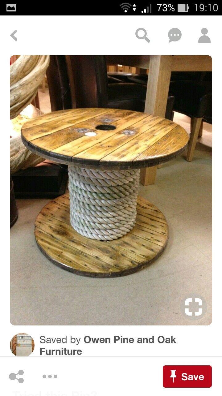 Pin Von Marino Auf Table Kabeltrommel Holz Holzspulentische Kabelspulen Tisch
