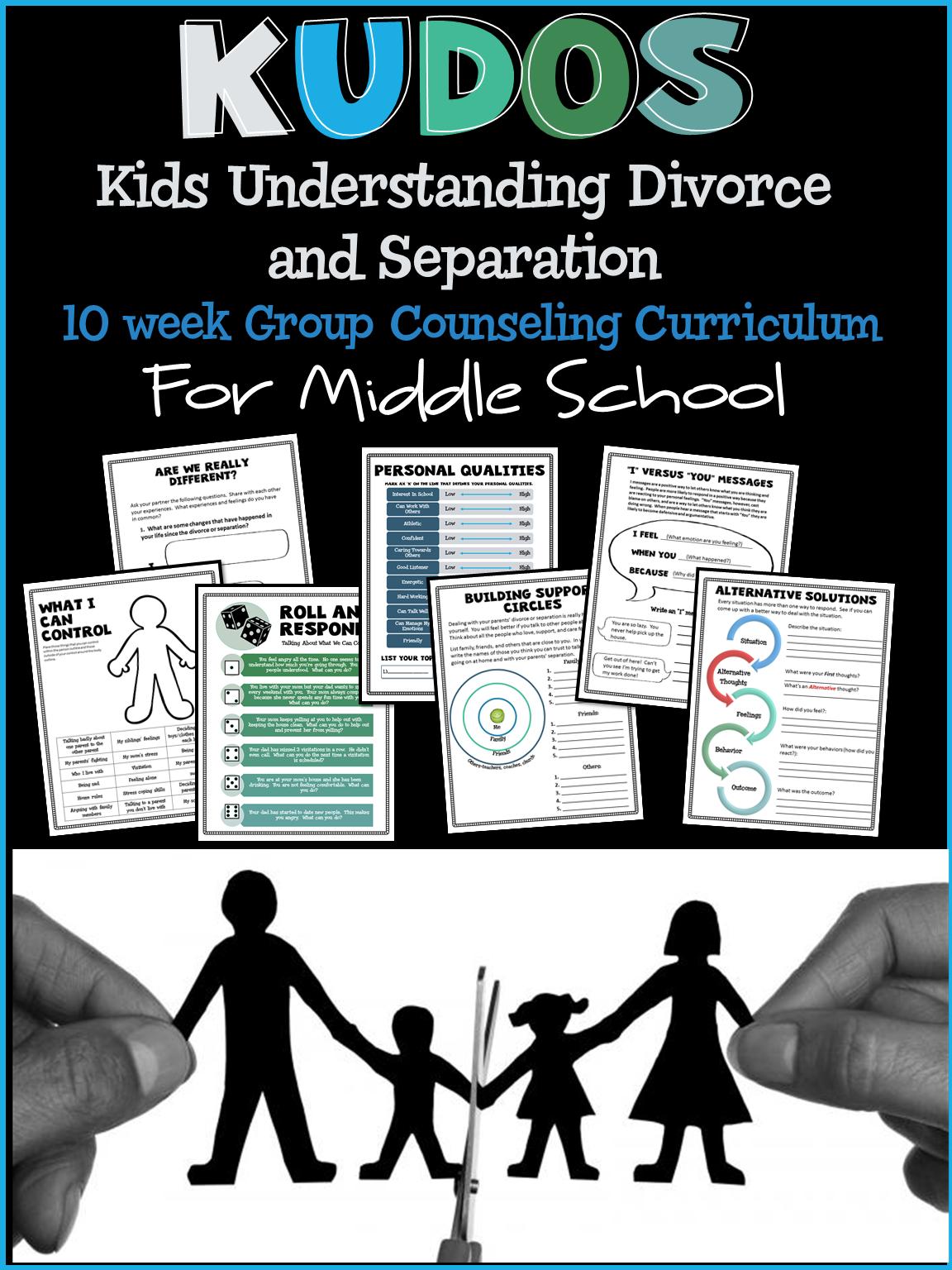 Kids Understanding Divorce Or Separation Group Counseling