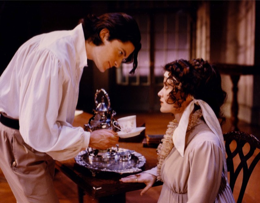 "David Conrad as ""Septimus"" and Tracy Sallows as ""Lady Croom"" in Tom Stoppard's ARCADIA."