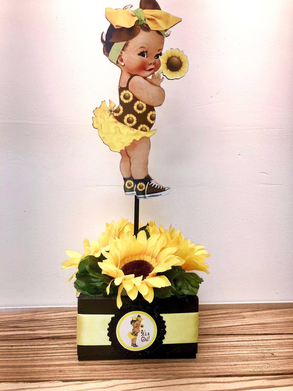Sunflower Centerpieces Baby Shower : sunflower, centerpieces, shower, Sunflower, Centerpiece, Shower, Flower, Party,, Flowers,, Showers,, Dinosaur