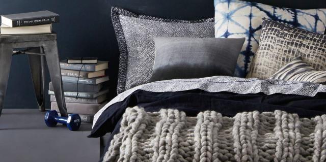 loopy mango chunky knit  sengeteppe strikksak gigavarmt=