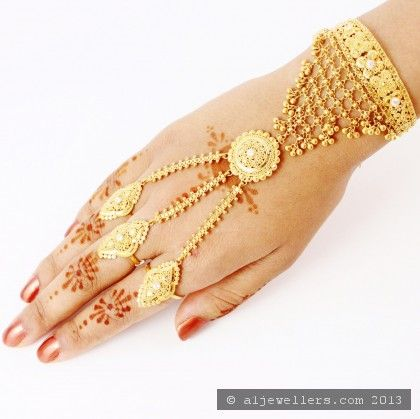 Three Fingers Ring Bracelet 1 Gold Jewelry Fashion Gold Jewellery Design Necklaces Hand Bracelet With Ring