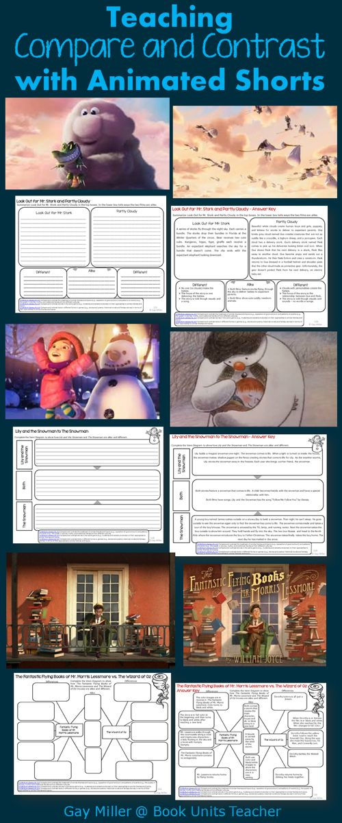 Using Animated Shorts to Teach Compare and Contrast | Book Units Teacher