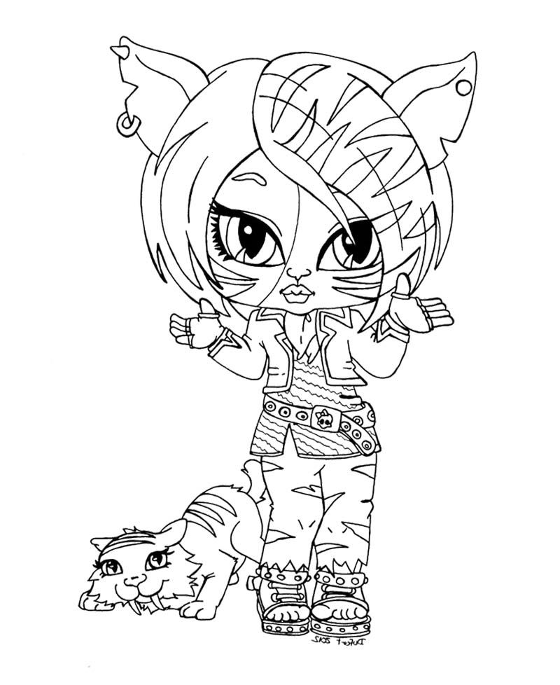 Little Kids Toralei Stripe With Pets Coloring Pages