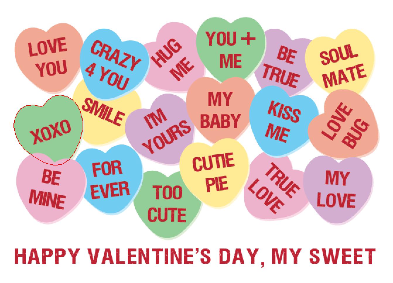 original artwork using words to describe valentines day sayings send - Send A Valentine