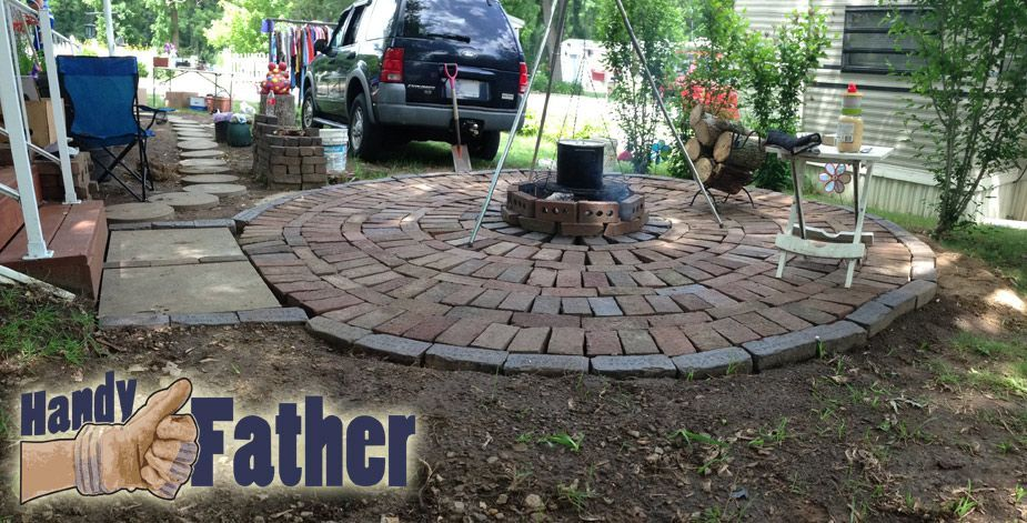 DIY Brick Patio Walkway Fire Pit build your own fire pit ...