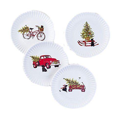 Melamine Christmas Platters.One Hundred 80 Degrees Retro Christmas Images Melamine