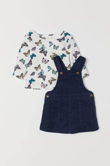0640ab7b0 Bib Overall Dress and Top in 2019 | Products | Dungaree dress, Bib ...