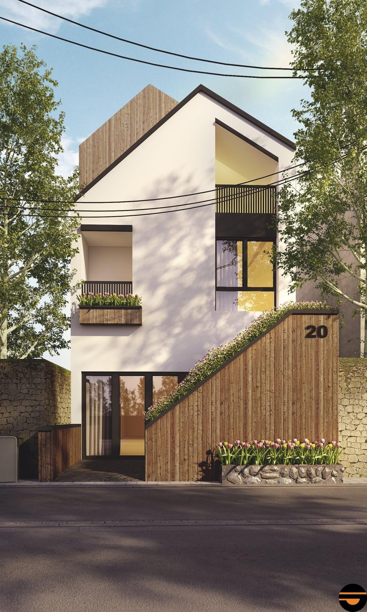 Facebook maison étroite plan maison future maison projet urbain bardage bois