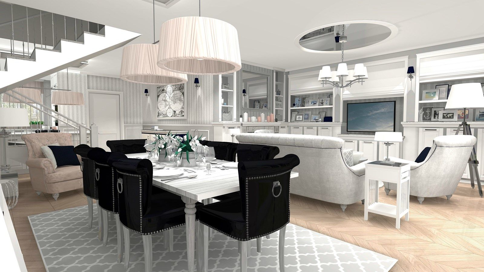 Wystroj Wnetrz Salon Styl Glamour Projekty I Aranzacje Najlepszych Designerow Prawdziwe Inspiracje Dla Kazdego Dla Kogo Liczy S Home Decor Interior Home
