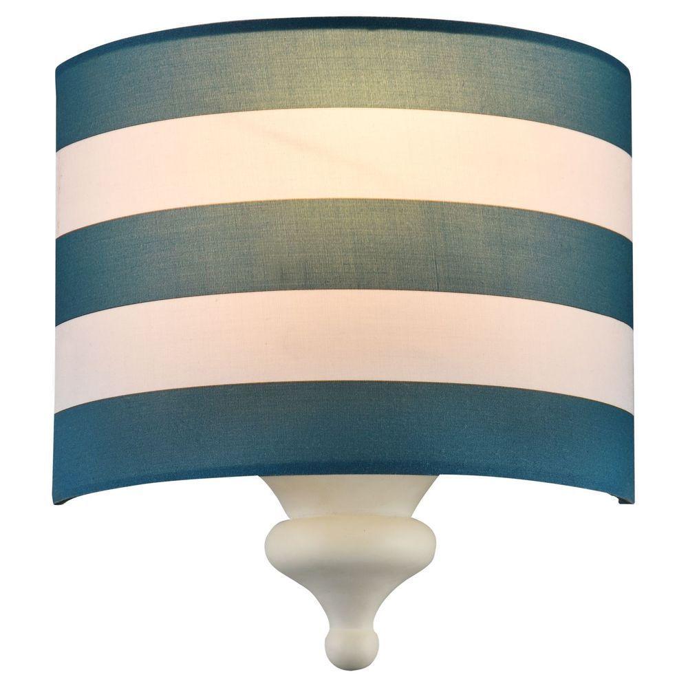 Wandleuchte Blau Diele E14 Maritim Metall Schlafzimmer Ebay Wandleuchte Wand Lampenschirm Aus Stoff