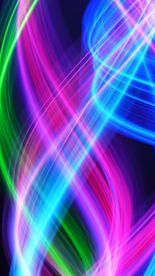 iPhone 5 wallpapers HD - Abstract Colorful lines ...