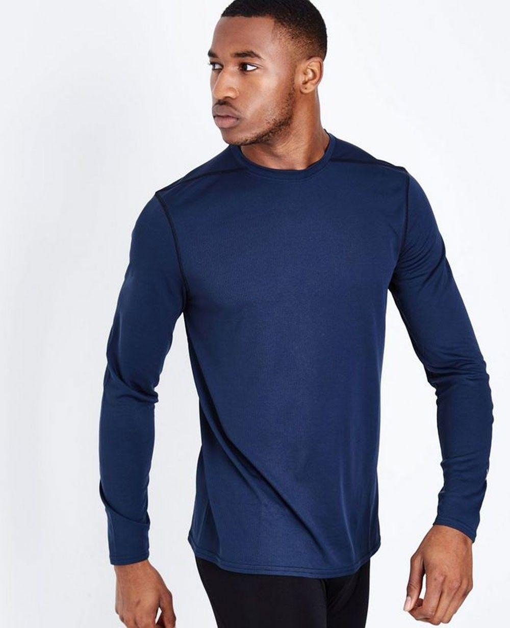 Navy Long Sleeve Crew Neck Sports Top Long sleeve tshirt